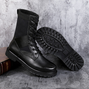 Image 5 - 2020 Mens Winter Boots Casual Genuine Leather Combat Boot Male Autumn Black Army Shoes Man Nice Military Boots for Men Big Size