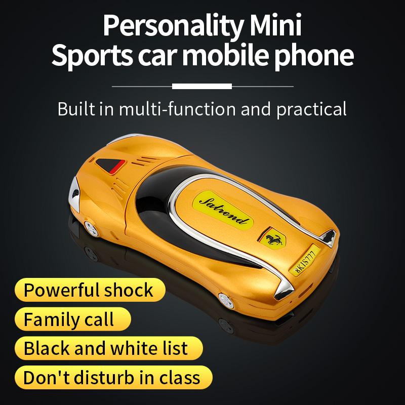 Mini Mobile Phone Car Model F1 V7 Support Vibration No Games GSM 2G Network Children Cellphone Student Pocket Phone