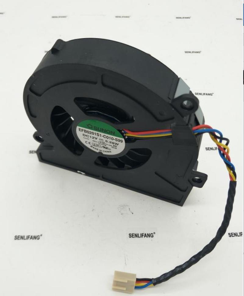 For EFB0201S1-C010-S99 DC 12V 5.28W 4-wire Server Cooler Fan