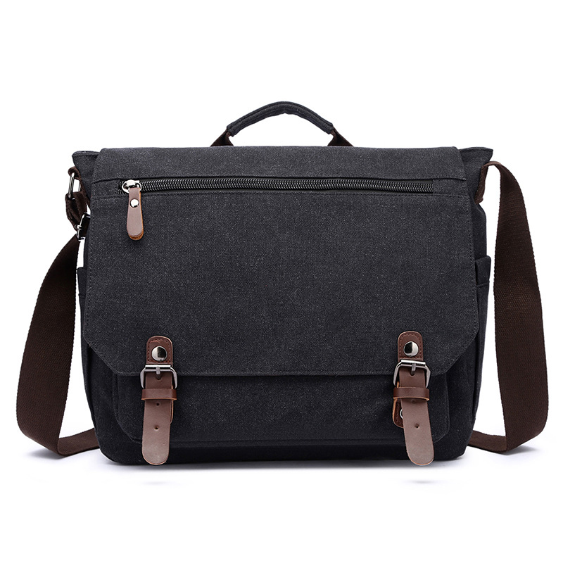 New Style Briefcase Business Hand Cross-body Bag Men's Canvas OL Style Briefcase