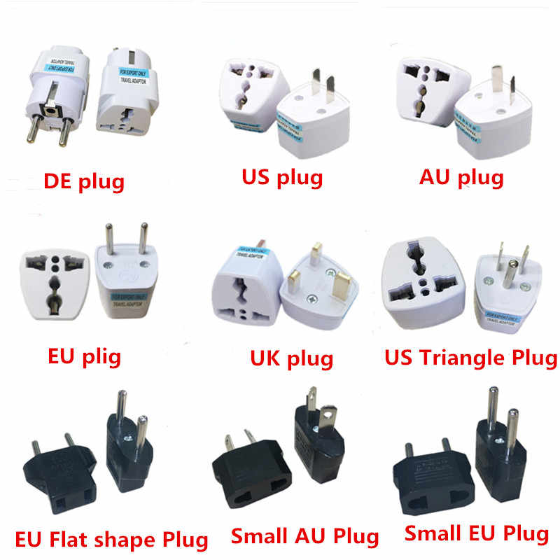 Universal Uk Us Au Eu Power Socket Plug Travel Charger Adapter Converter 2 Platte Pin