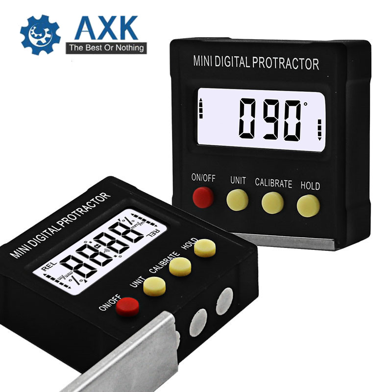 360 Degree Mini Digital Protractor Inclinometer Electronic Level Box Magnetic Base Measuring Tools DT514