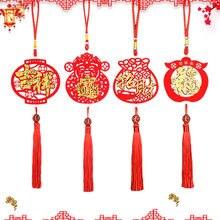 Ano novo chinês pingentes decorações de ano novo para casa nó chinês bênção dropings ornamentos decorações de natal decoração diy