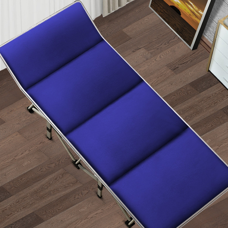 Folding Bed Nap Lounge Single Bed Office Home Simple Accompanying Beach Portable Adult Camp Bed Lounge Chair