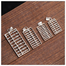 Pendant with 925 sterling silver necklace  Silver pendant Chinese abacus DIY accessories Jewelry