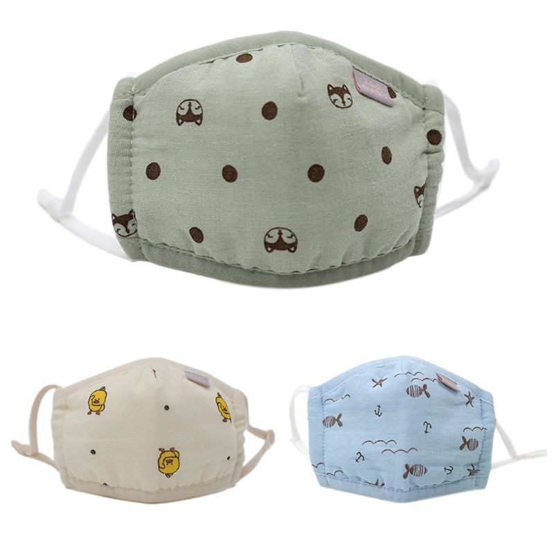 Children Baby Kids Cotton Wind Mouth Mask Boys Girls Cartoon Breathable Masks High Quality And Brand New