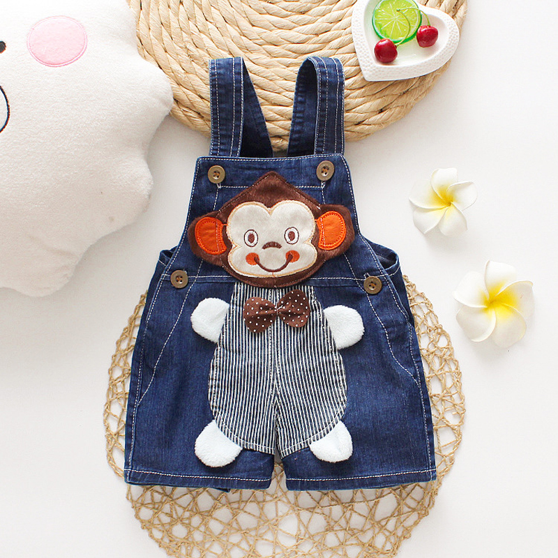 IENENS Toddler Summer Overalls Baby Thin Shorts Boy Jeans Dungarees 0-3 Years Kids Denim Short Trousers Child Soft Shorts 1
