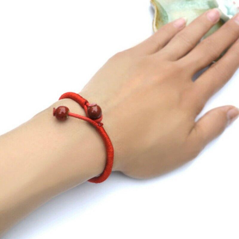 Women Lucky Bracelets Bead Red String Ceramic Bracelets & Bangles Men Handmade Accessories Lovers Lucky Jewelry