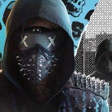 Хэллоуин панк дьявол COS аниме сценическая маска призрак шаги улица Маскарад заклепки Смерти маски Часы Собаки Косплей вечерние маска для лица WD2
