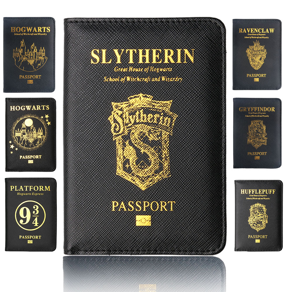 TourSuit Rfid Blocking Leather Passport Cover Holder Hogwarts Gryffindor Ravenclaw With Card Case