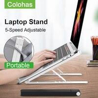 Suporte portátil portátil suporte ajustável notebook suporte para macbook ar pro computador riser notebook suporte de refrigeração