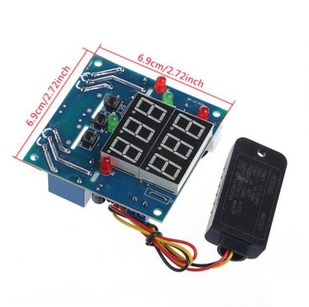 12V régulateur Intelligent d'humidité de la température relais Thermostat AC/DC réglable contrôle thermomètre hygromètre AM2301 capteur