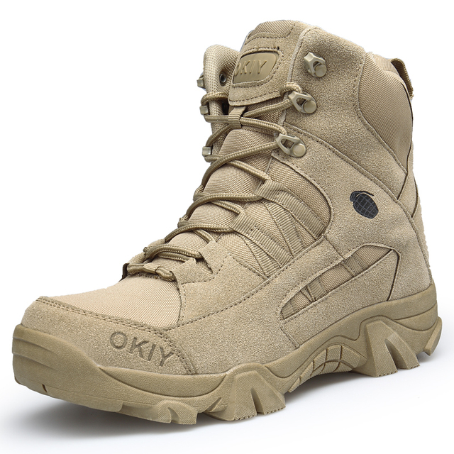 New Autumn Winter Military Boots Outdoor Male Hiking Boots Men Special Force Desert Tactical Combat Ankle Boots Men Work Boots 2