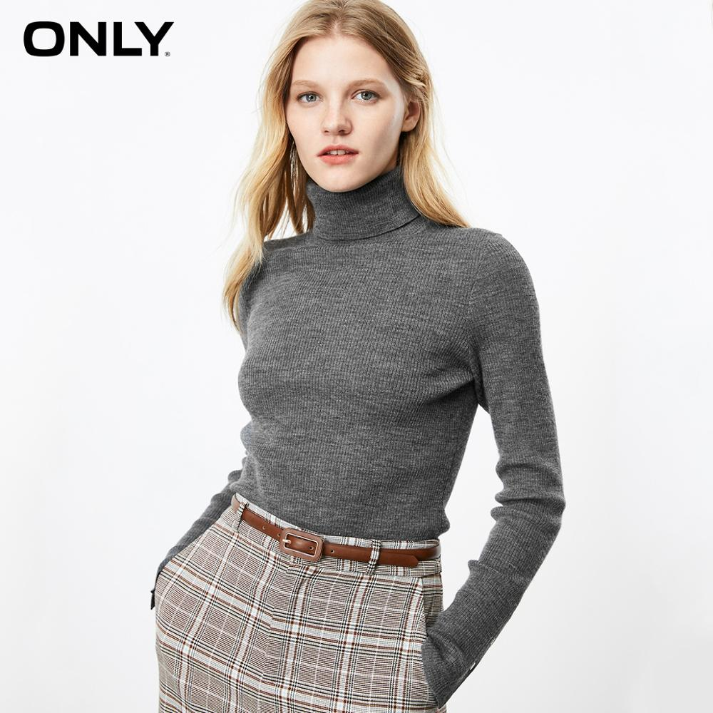 ONLY  Autumn Winter Women's Cotton-rich Thin Woolen Knit | 119324572