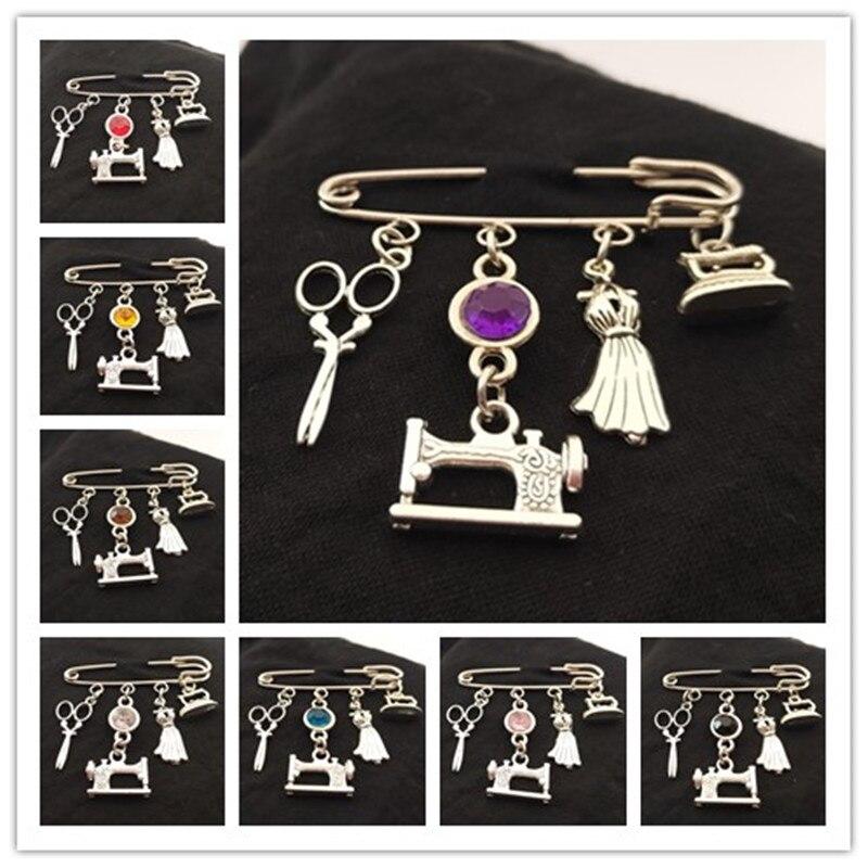 Шпильки для швейной машинки, шпильки для портных, шпильки для ножниц, элегантные шпильки с Шармами