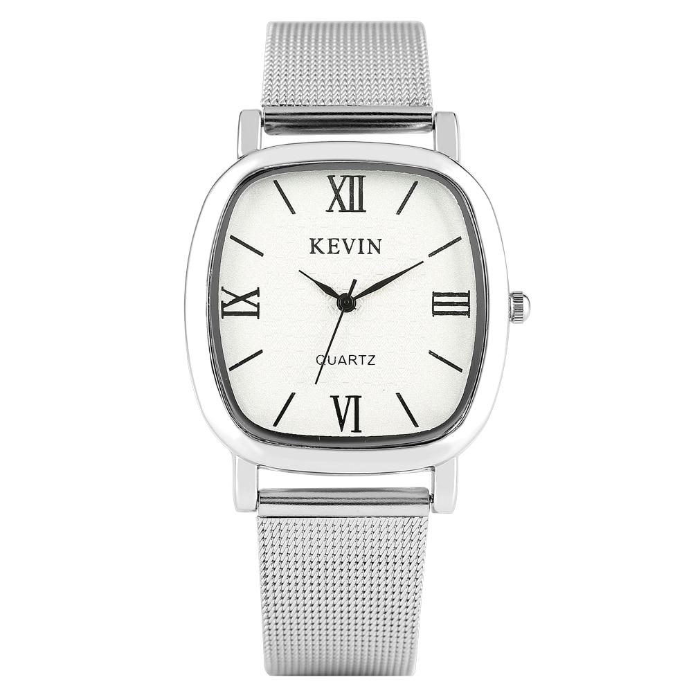 Casual Men's Watch Stainless Steel Band Artificial Quartz Wrist Watch Elegant Watch Gifts Women Men Couple