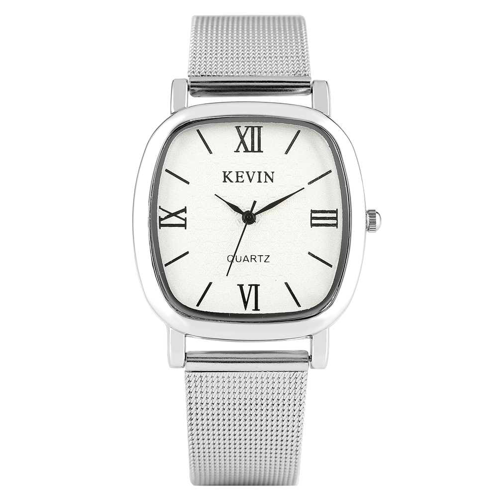 KEVIN Casual Men's Watch Stainless Steel Band Artificial Quartz Wrist Watch Elegant Watch For Women Men Couple