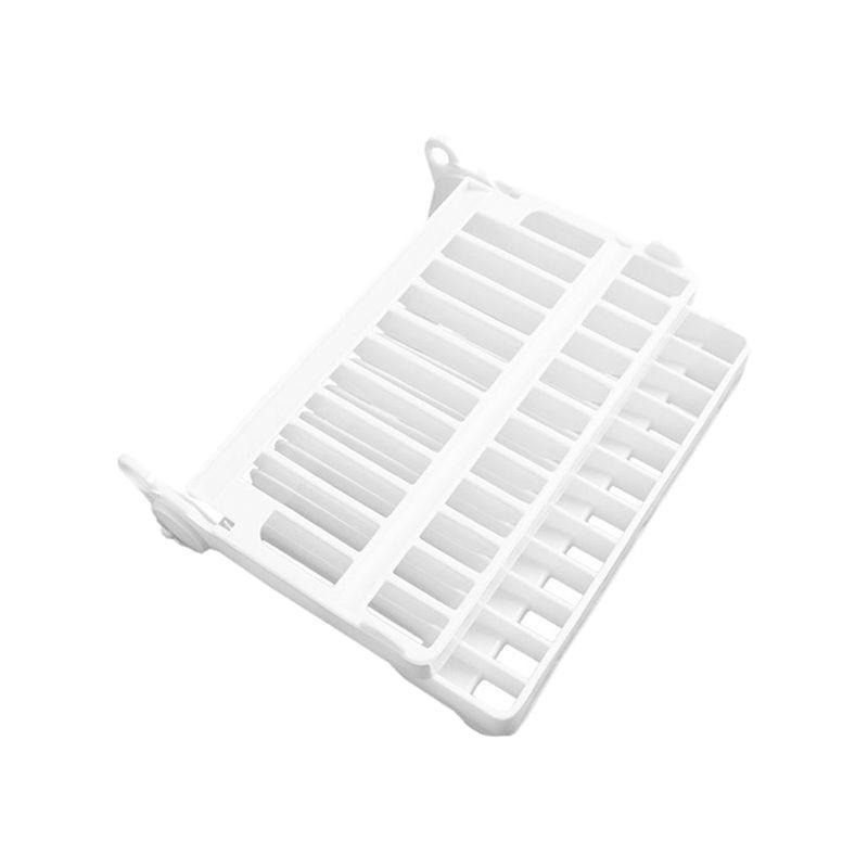 Ev ve Bahçe'ten Raflar ve Tutucular'de Foldable Plate Dish Drying Organizer Rack Drainer Plastic Storage Holder Kitchen White title=