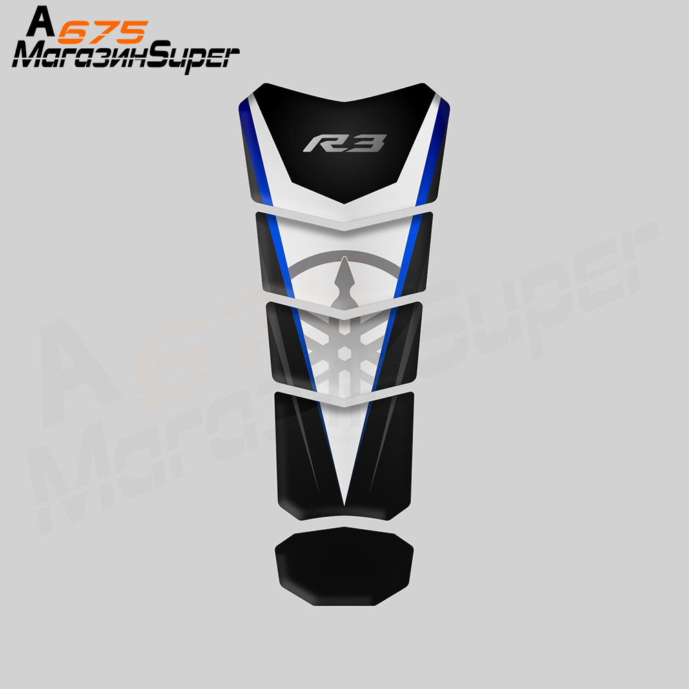 3D Motorcycle Tank Pad Protector Decal Stickers Case For Yamaha YZF R25 R <font><b>25</b></font> R125 R3 Tank Sticker image