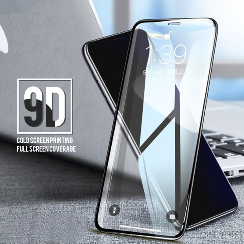 3Pcs Screen Protector For IPhone XR XS Max Tempered Glass For IPhone 7 6 6s 8 Plus 9D Glass For IPhone X 10 Protective Glass