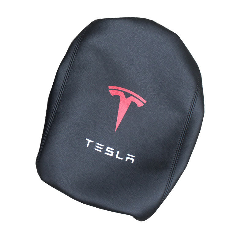 Applicable Tesla Model 3 Central Armrest Case Car Armrest Case Black And White With Pattern Carbon Fiber Color Armrest Box