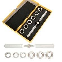 Tornillo para reloj de calidad, funda trasera, abridor, llave extractora, troqueles, herramienta reparadora, conjunto para relojero Rolex, herramientas de cambio de batería abiertas