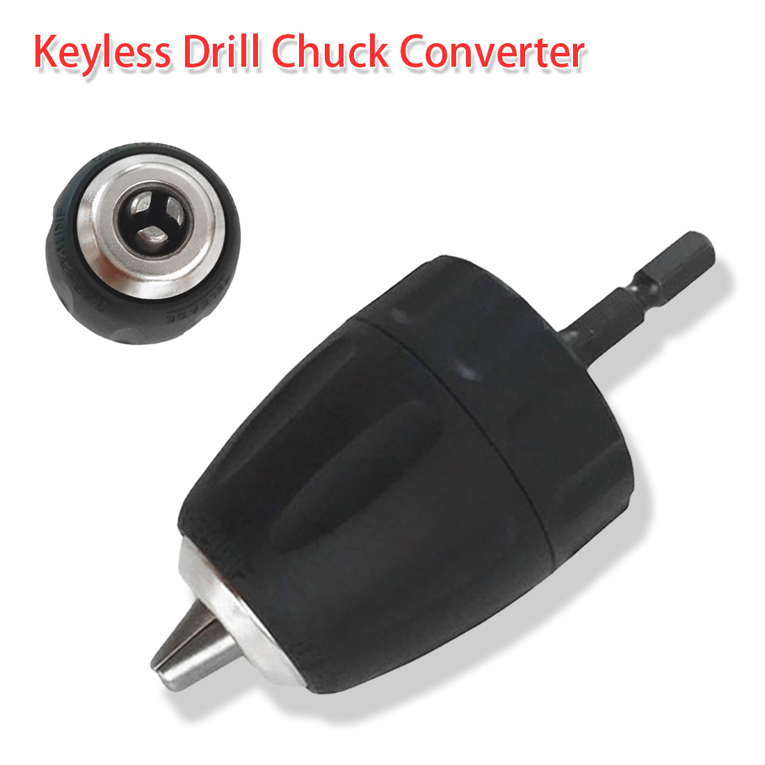 "0.8-10mm Keyless Drill Chuck Converter 3/8"" 24UNF+1/4 Hex Shank SDS Adaptor For Engraving Machine Woodworking Screwdriver Tool"