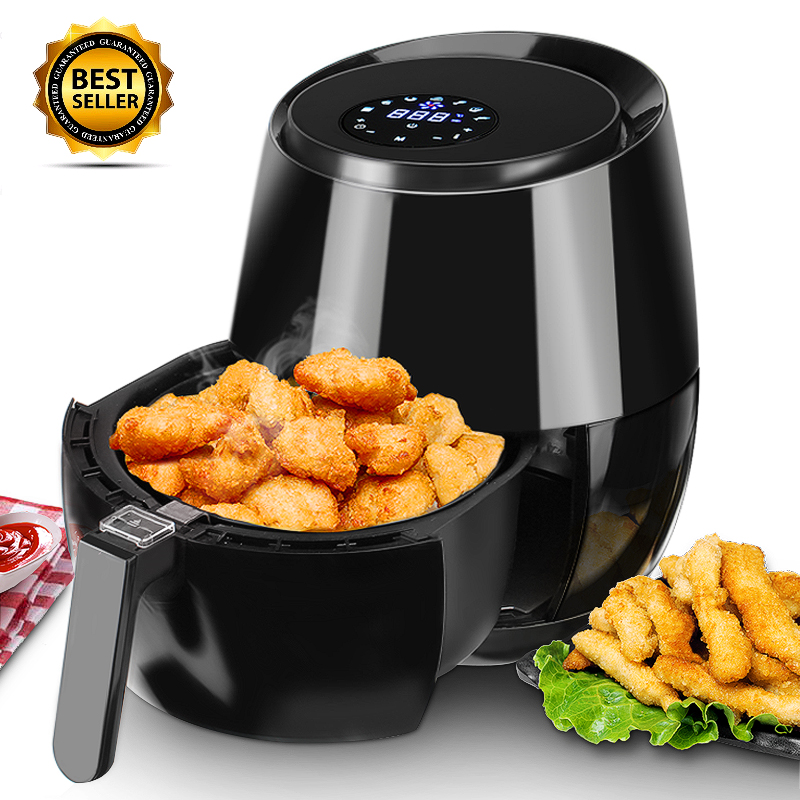 5.8 Qt Deep Air Fryer Digital Touchscreen Adjustable Thermostat Fast Cooking