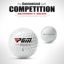 12pcs set PGM three-layer high-quality golf ball 70% high elasticity Bouncing Far Distance Professional Game Ball