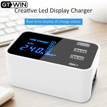GTWIN Quick Charge Type C USB Charger HUB Led Display Mobile