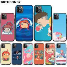 Cartoon Ponyo on the Cliff Cover Black Soft Shell Phone Case For iphone 5 5S SE 5C 6 6S 7 8 plus X XS XR 11 PRO MAX black cover darling in the franxx for iphone x xr xs max for iphone 8 7 6 6s plus 5s 5 se super bright glossy phone case