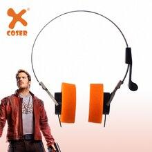 XCOSER שומרי Galaxy כוכב אדון אוזניות אוזניות קוספליי אבזרי ווקמן מוסיקה אוזניות אוזניות תלבושות אבזר