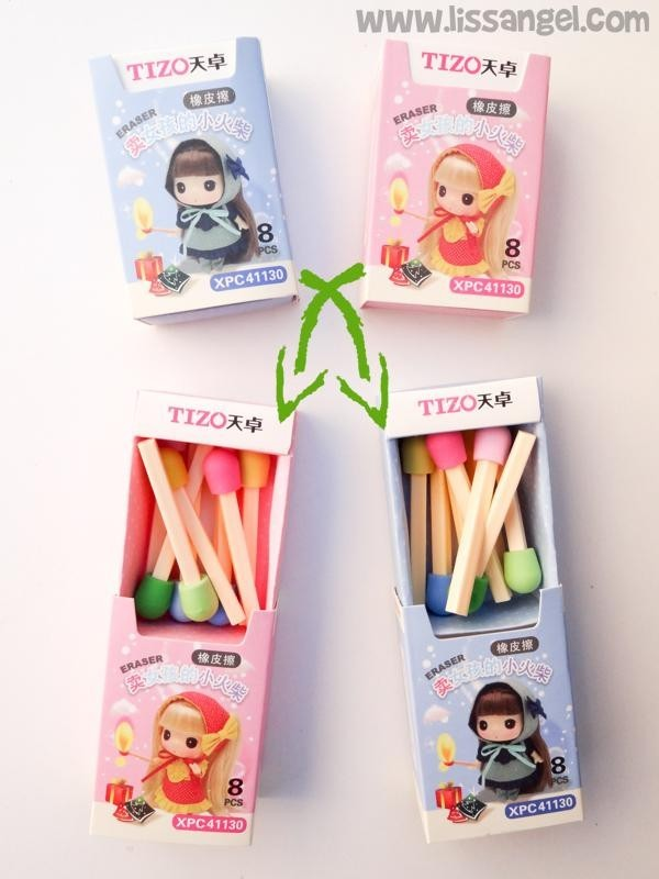Kawaii Matchbox Erasers