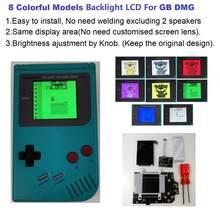 FÜR GB DMG Klassische 4 PIXEL IN 1 VOLLE BETRACHTUNG LCD Bildschirm HINTERGRUNDBELEUCHTUNG kit Für GameBoy Original DMG-01 1989 handheld konsole