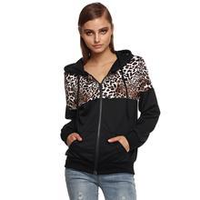 Fashion Leopard Hoodies Spring Autumn Women Long Sleeve
