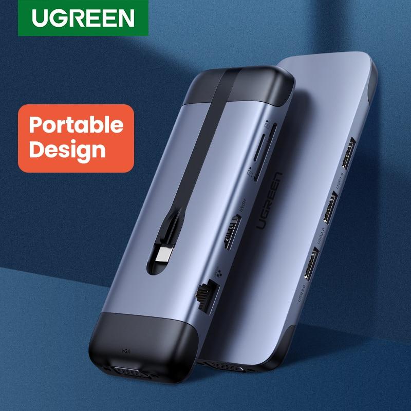 Ugreen USB C HUB Portable Type C To Multi USB 3.0 HUB HDMI Adapter Dock For MacBook Pro Air USB-C 3.1 Splitter Port Type C HUB
