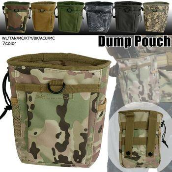Na zewnątrz taktyczne wojskowe Molle Ammo etui strzelba taktyczna Magazine etui Dump Drop talii torba polowanie Pack ReMasky Ammo Mag Bag tanie i dobre opinie CN (pochodzenie) NYLON