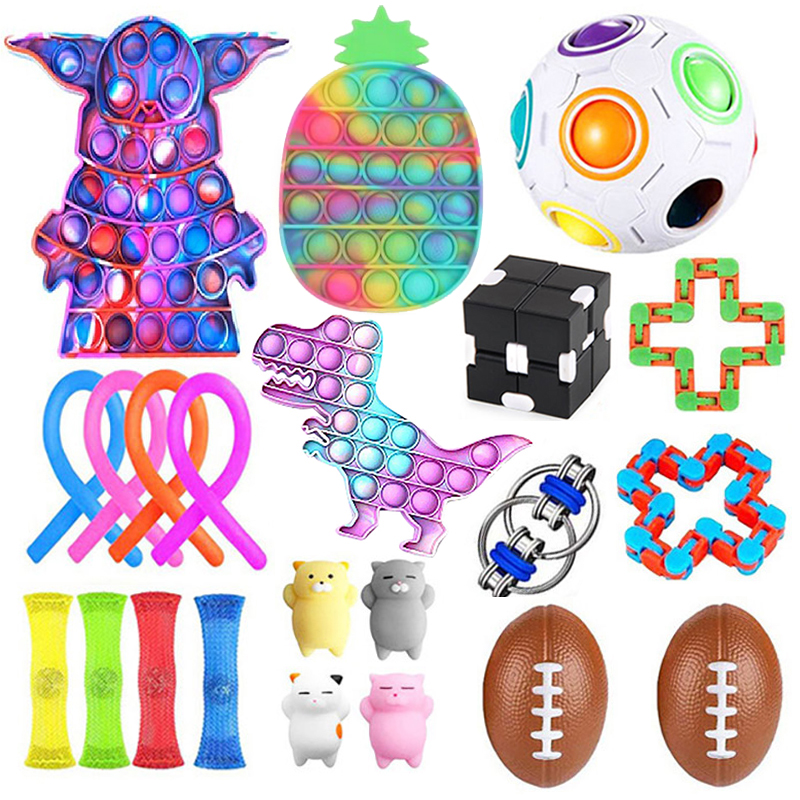 20/22/24/25 PCS Pack Fidget Sensory Toy Set Stress Relief Toys Autism Anxiety Relief img1