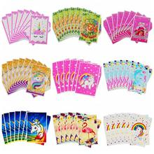 Novo 20 pçs unicórnio sacos de presente de plástico doces flamingo sacos descartáveis festa de aniversário favores crianças tema presente de casamento decoração