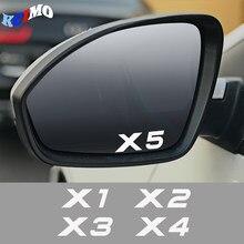 4pcs Auto Espelho Retrovisor Decal Adesivo Para Para BMW X5 E53 E70 F15 G05 X1 F48 X3 F25 X6 E71 X2 F39 X4 F26 X7 G07 Acessrios