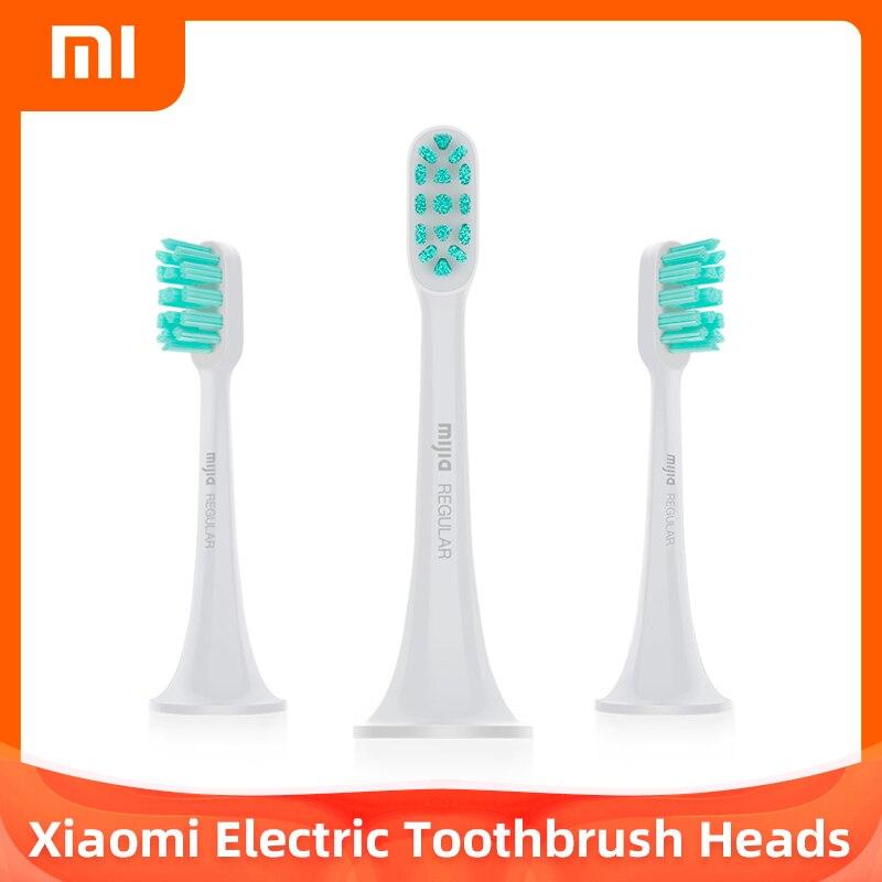 Оригинальный Xiaomi 1/3 шт. обычный тип насадки для зубной щетки для Mijia Ультразвуковая электрическая зубная щетка для зубных щеток T300 T500 электр...