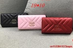 Luxury Designer Brand Chanel- Wallet women Purses Black Bifold Wallet Zipper Coin Purse C265