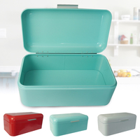 Bread Bin Gift Practical Storage Box European Style Tin Large Capacity Vintage Container Kitchen Metal Holder Square Shape