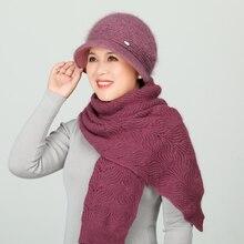 Зимние шапки suogry облегающие женская шапка из кроличьего меха