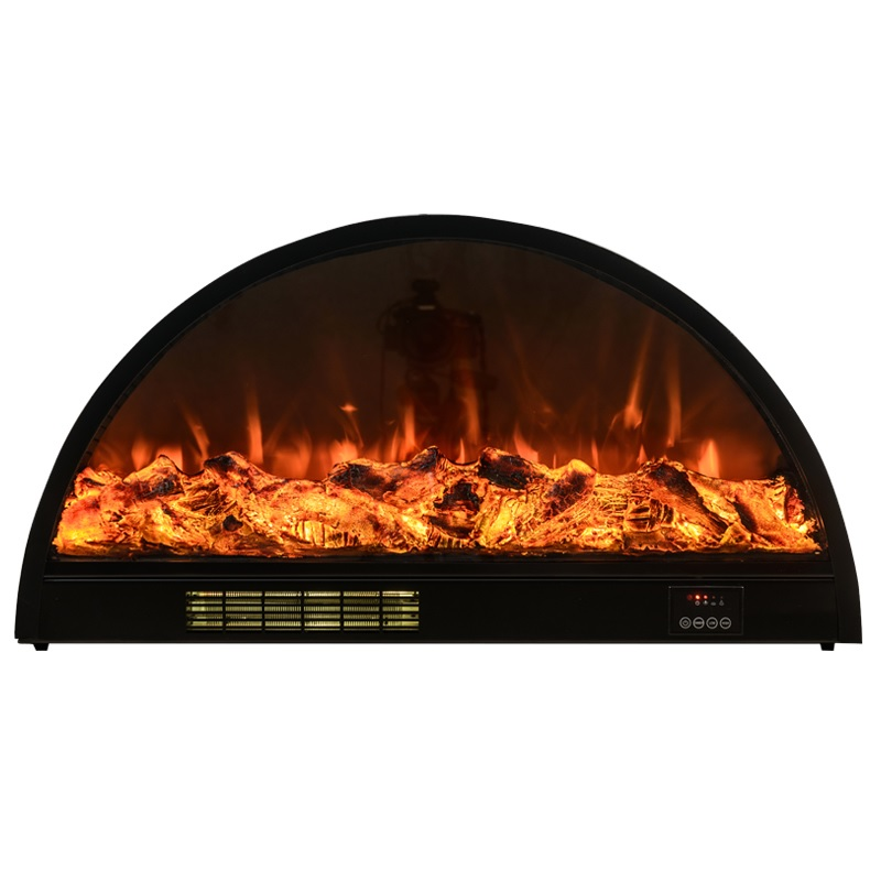 Semi Circle Electric Fireplace / 40 Or 80cm Diameter Vaulte 6W LED / 18cm Thickness