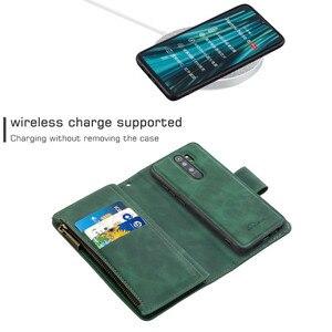 Image 4 - Zipper Flip Case For Xiaomi Redmi Note 7 8 Pro 9 Pro 8T 7A K20 Mi Note 10 CC9 Detachable Leather Magnet Wallet Stand Cover Coque