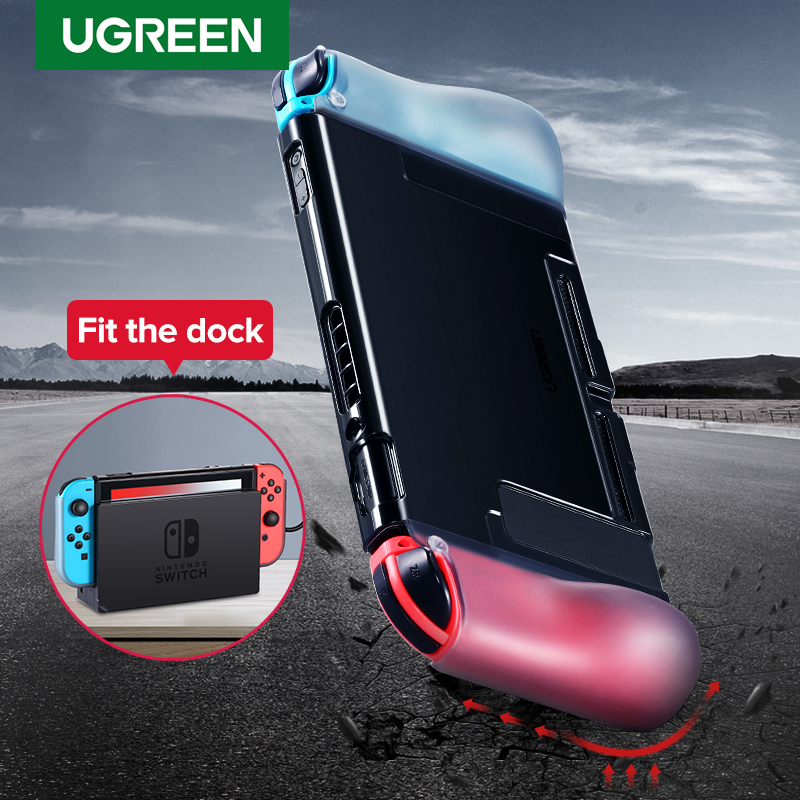 Ugreen For Nintend Switch Case Protective Fit Charger Dock Soft Silicone Anti-drop Nintendos Switch Case For Nintend Switch(China)