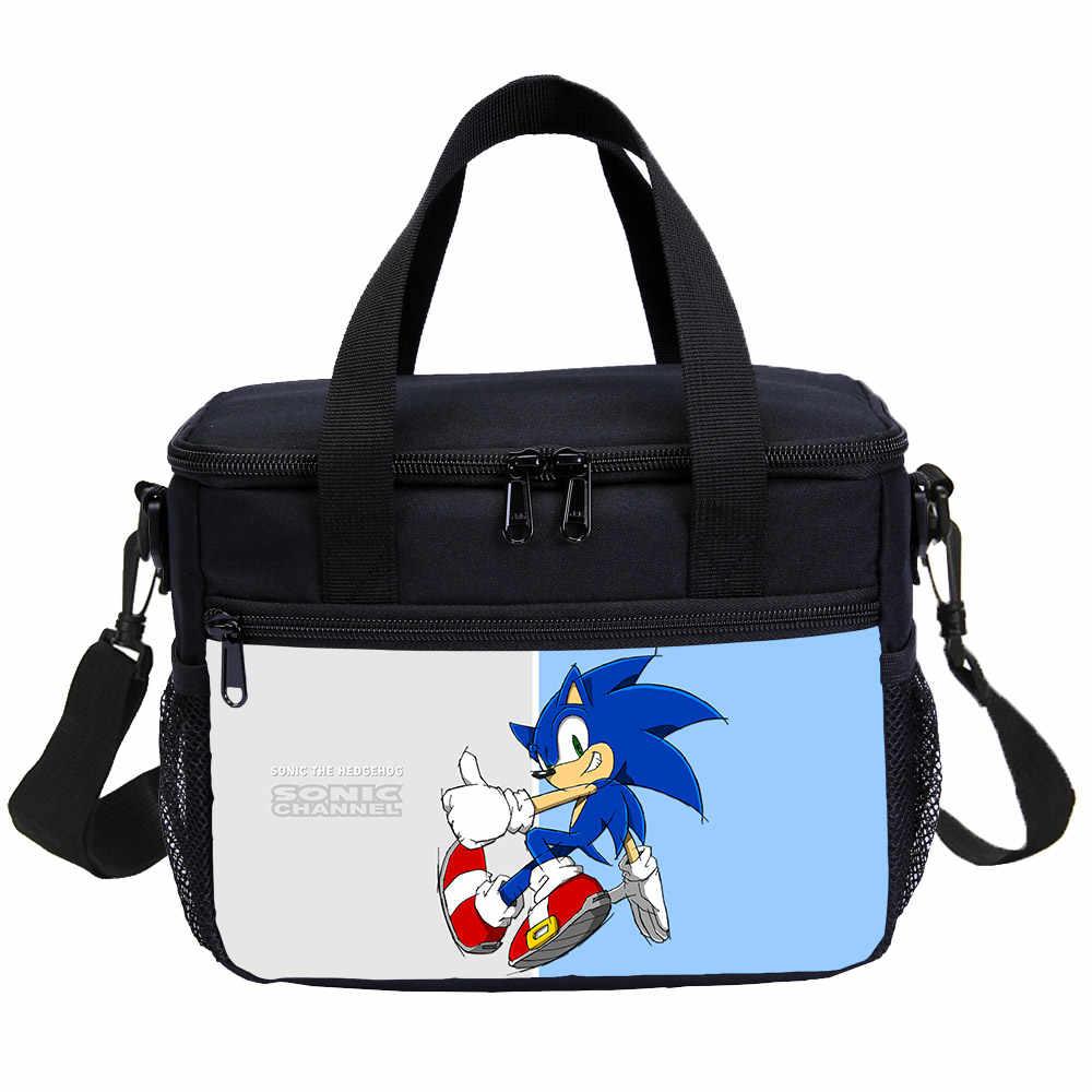 Sonic The Hedgehog Girls Backpack Lunch Cooler Box Sling Bag Pen Case Kids Lot