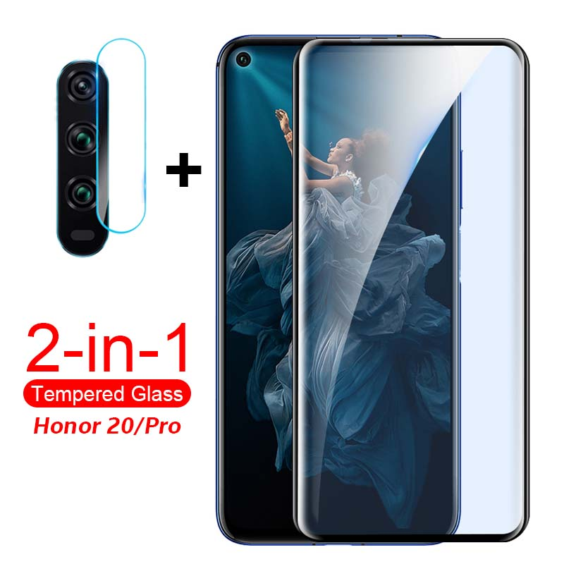 2 In 1 Camera Glass Honor 20 20s Screen Protector For Huawei Honor 20 Pro Tempered Glass On Honer20 20Pro YAL L21 L41 Back Film
