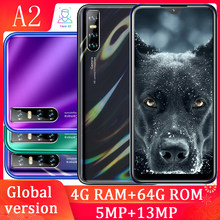 A2 6.26 Water Drop Screen Quad Core Smartphones 4 Gram 64 Grom 13mp Gezicht Id Unlocked Android Celulars Mobiele Telefoons global Versie